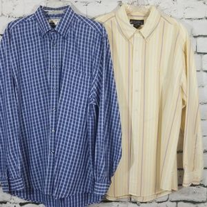 Lot of 2 Large Shirts / Brooks Bros & J. Abboud